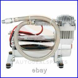 12V 200PSI Dual Chrome 440C Air Compressor Kit For Train Horn Air Bag Suspension