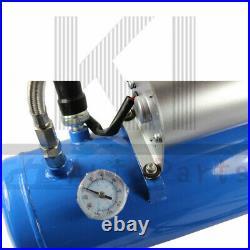 12V Train Air Horn Kit Loud Dual 4 Trumpet Air Horn 120 PSI 6L Air Compressor