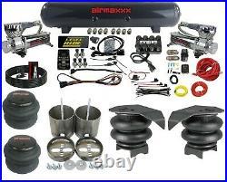 3/8 Complete Air Ride Suspension Kit 3 Preset Pressure Manifold 99-06 GM 1500