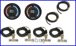 3/8 airmaxxx Manual Toggle Air Ride Management Dual Digital Pressure Display
