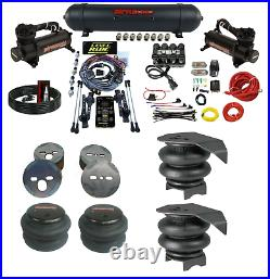 3 Preset Heights 3/8 Complete Bolt Air Ride Suspension Kit For 1988-98 Chevy C15