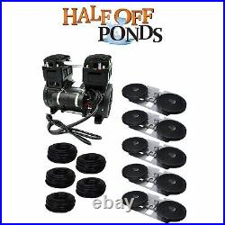 (5) Double-10 Disc Aeration Kit with (1) 7.1 CFM Compressor & 5/8 Tubing