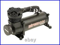 5 gallon aluminum air tank black & dual air compressors 480 black airmaxxx
