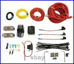 5 gallon black spun aluminum air tank 480 chrome air compressors & wiring kit