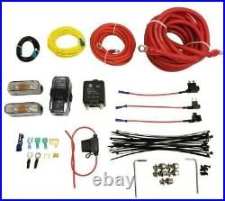 5 gallon black spun aluminum air tank 580 chrome air compressors & wiring kit