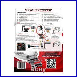 5 gallon spun raw aluminum air tank 580 chrome air compressors & wiring kit