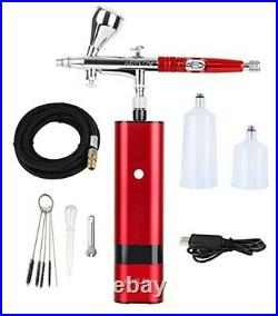 AIR FLOW Airbrush Double Action Compressor Rechargeable Red