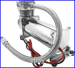 Air Suspension Kit/System for Truck/Car Bag/Ride/Lift, Dual Compressor, 2.5G Tank