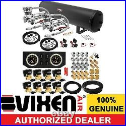 Air Suspension Kit/System for Truck/Car Bag/Ride/Lift Dual Compressor, 5G Tank