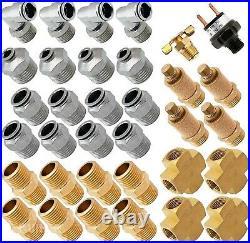 Air Suspension Kit for Truck/Car Bag/Ride Dual Compressor, 5G Aluminum Tank
