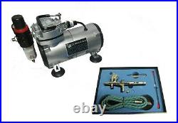 Airbrush Air Compressor Kit 180k Double Action Airbrush + Accessories Rdgtools
