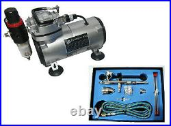Airbrush Air Compressor Kit 183k Double Action Airbrush + Accessories Rdgtools