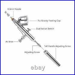 Airbrush Compressor Kit, Dual-Function Airbrush Spray Gun Full, 67 Piece Set