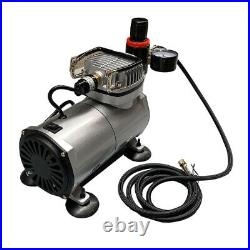 Airbrush Compressor Kit Single Dual Action Spray Gun Nail Art Paint Tattoo Art