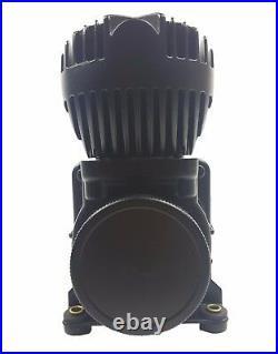 Airmaxxx 5 gallon raw aluminum air tank & dual 580 black air compressors