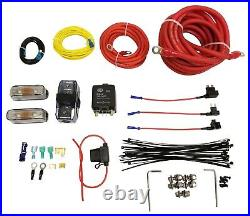 Airmaxxx Dual Compressor Wire kit Air Ride Suspension Install Kit Fits Viair
