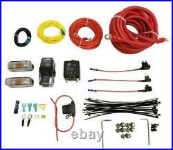Airmaxxx dual chrome 580 air compressors & dual air compressor wiring kit
