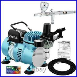 All-Purpose DUAL-ACTION AIRBRUSH 3 Tip-3 Cup-COMPRESSOR