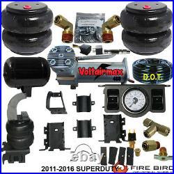 B Air Helper Spring Kit Ford F250 F350 2011-2016 Compressor Dual Paddle Valve