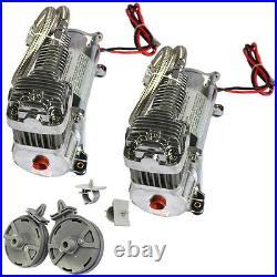 Brand New Air Compressor Kit Carmocar Dual 440C 200 PSI Chrome 440C 12 Volt