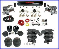 Complete 3/8 Manual DLOE65 Air Ride Suspension Kit AirBag Chrome 99-06 Chevy C15