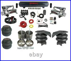 Complete 99-06 GM 1500 Air Ride Suspension Kit 3/8 Evolve Manifold Bags Tank 580