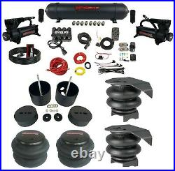 Complete Air Ride Suspension Kit Manifold Valve Bags Seamless 1988-98 Chevy C15