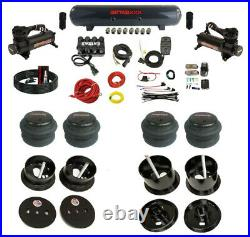 Complete Bolt On Air Ride Suspension Kit Manifold Valves & Bags Fits 63-64 Cadi