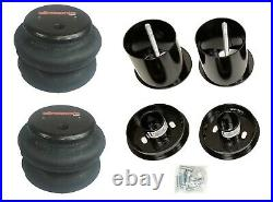 Complete Bolt On Air Ride Suspension Kit withManifold & 480 Blk For 65-70 Cadillac