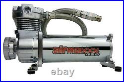 Complete FASTBAG 3/8 Air Ride Suspension Kit AirBags Chrome 99-06 Chevy C15