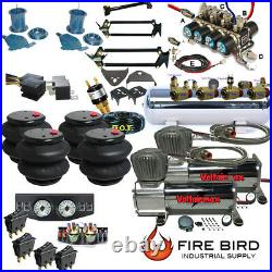 D F150 97-03 Air Kit 25/2600 Bags 3/8 Valve 7 Switch 5 Gal dual Compressor