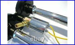 Dual 2 Air Train Horn Kit Semi Truck Boat Chrome Horns w 120 PSI Compressor
