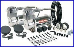 Dual Performance Value DC Compressor Combo Kit Two-400-Cc 12-V. 150-Psi, Chrome