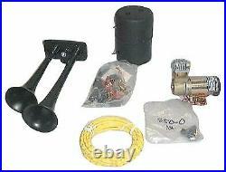 Hadley Horns H00964H Bully Series Horn Kit Dual Air Horn 12V-DC Compressor