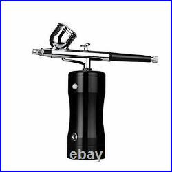Jaywayne Rechargeable Airbrush Makeup Kit Handheld Air Compressor Dual-Action