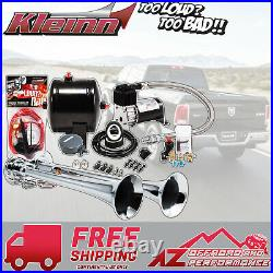 Kleinn Air Horn Model HK2 Compact Complete Truck Dual Kit with 120 PSI Air System
