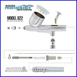 MULTI-PURPOSE Dual-Action AIRBRUSH SET KT Twin Piston Air Compressor Paint Hobby