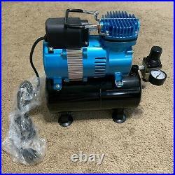 Master Airbrush 1/5 HP Cool Runner II Dual Fan Tank Air Compressor Kit TC-326T