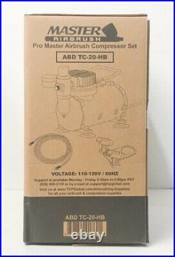 Master Airbrush Cool Runner II Dual Fan Air Compressor Airbrushing Paint Kit New