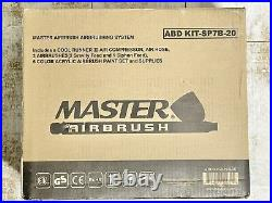 Master Airbrush Cool Runner II Dual Fan Air Compressor Kit with 3 Airbrushes