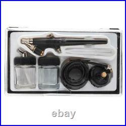 Mini 3 Airbrush & Compressor Kit Dual-Action Spray Air Brush Set Tattoo Nail Art