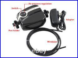 Mini Air Compressor Dual Action Airbrush Spray Kit Makeup Tattoo Gun Craft NEW