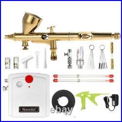 Mini Airbrush Compressor Kit Dual-action Airbrush Spray Paint Gun Car Painting