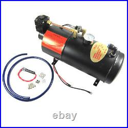 New Train Horn Kit Loud Dual 2 Trumpet withAir Compressor Complete System 120 PSI