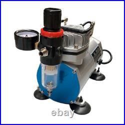 Precision Airbrush Compressor Kit Dual-Action Spray Air Brush Set Tattoo Nail US