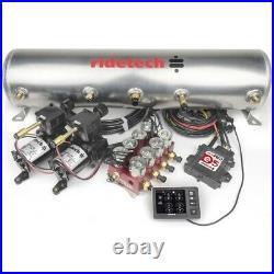 Ridetech 30534700 Suspension Control System 5Gallon Tank Dual Compressor 12V Kit