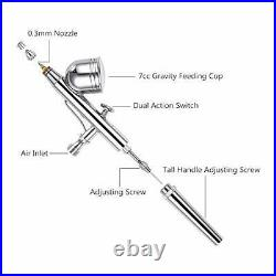 Sntieecr 67 PCS Airbrush Compressor Kit, Dual-Function Airbrush Spray Gun Full