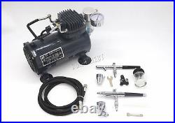 Switzer AS18 Airbrush With Compressor Double Action Air Brush Spray Kit Paint