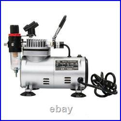 TC-20BK 3 Airbrush Compressor Kit Dual-Action Spray Air Brush Set Practical