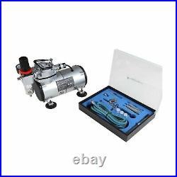 TIMBERTECH Airbrush Kit, Multi-purpose Airbrush Compressor Set, Dual Action G